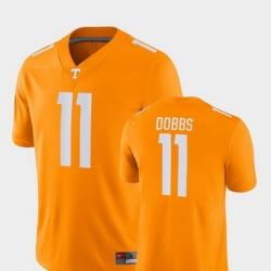 Men Tennessee Volunteers Joshua Dobbs 11 Orange Game College Football Jersey