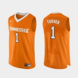 Men Tennessee Volunteers Lamonte Turner Orange Authentic Performace College Basketball Jersey