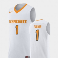 Men Tennessee Volunteers Lamonte Turner White Replica College Basketball Jersey