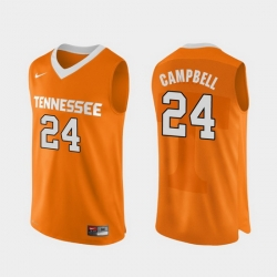 Men Tennessee Volunteers Lucas Campbell Orange Authentic Performace College Basketball Jersey