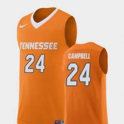 Men Tennessee Volunteers Lucas Campbell Orange Replica College Basketball Jersey