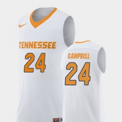 Men Tennessee Volunteers Lucas Campbell White Replica College Basketball Jersey