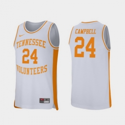 Men Tennessee Volunteers Lucas Campbell White Retro Performance College Basketball Jersey