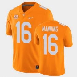 Men Tennessee Volunteers Peyton Manning College Football Orange Alumni Player Game Jersey