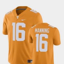 Men Tennessee Volunteers Peyton Manning Tennessee Orange Alumni Football Game Player Jersey
