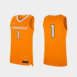 Men Tennessee Volunteers Tennessee Orange Replica College Basketball Jersey