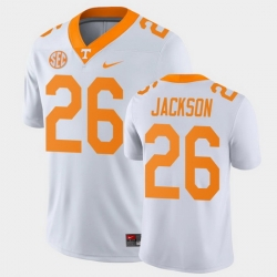 Men Tennessee Volunteers Theo Jackson Game White College Football Jersey