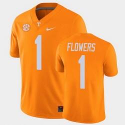 Men Tennessee Volunteers Trevon Flowers College Football Orange Alumni Player Game Jersey