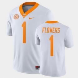 Men Tennessee Volunteers Trevon Flowers Game White College Football Jersey