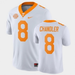 Men Tennessee Volunteers Ty Chandler Game White College Football Jersey