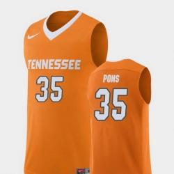 Men Tennessee Volunteers Yves Pons Orange Replica College Basketball Jersey