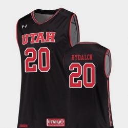 Men Utah Utes Beau Rydalch Black Replica College Basketball Jersey