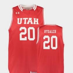 Men Utah Utes Beau Rydalch Red Replica College Basketball Jersey