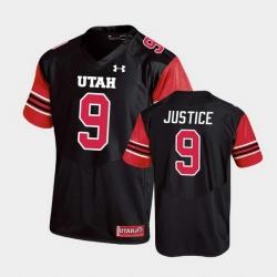 Men Utah Utes Cooper Justice Replica College Football Black Jersey