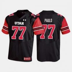 Men Utah Utes Darrin Paulo College Football Black Jersey