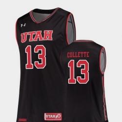 Men Utah Utes David Collette Black Replica College Basketball Jersey