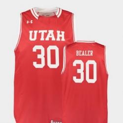 Men Utah Utes Gabe Bealer Red Replica College Basketball Jersey