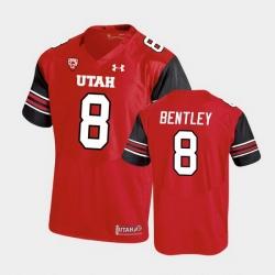 Men Utah Utes Jake Bentley Premier Performance Football Red Jersey