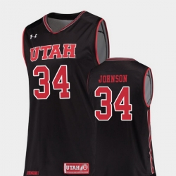Men Utah Utes Jayce Johnson Black Replica College Basketball Jersey