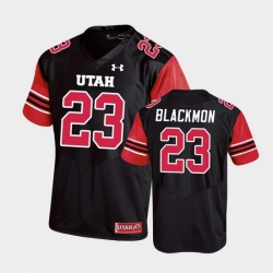 Men Utah Utes Julian Blackmon Replica College Football Black Jersey