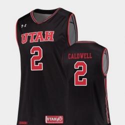 Men Utah Utes Kolbe Caldwell Black Replica College Basketball Jersey