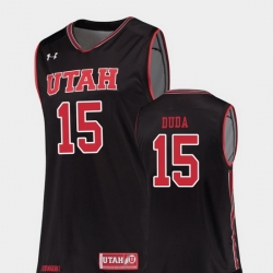 Men Utah Utes Nate Duda Black Replica College Basketball Jersey