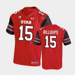 Men Utah Utes Nick Billoups Premier Performance Football Red Jersey
