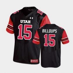 Men Utah Utes Nick Billoups Replica College Football Black Jersey