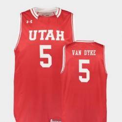 Men Utah Utes Parker Van Dyke Red Replica College Basketball Jersey