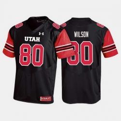 Men Utah Utes Siaosi Wilson College Football Black Jersey