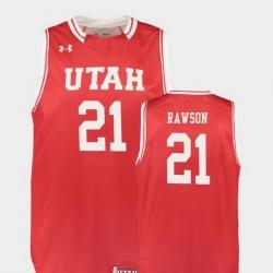 Men Utah Utes Tyler Rawson Red Replica College Basketball Jersey