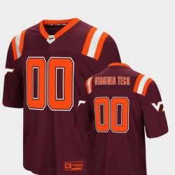 Men Virginia Tech Hokies 00 Maroon Foos Ball Football Colosseum Jersey