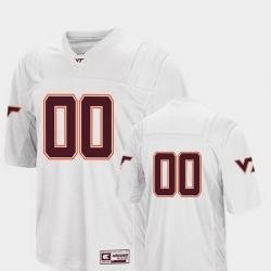 Men Virginia Tech Hokies 00 White College Football Colosseum Jersey