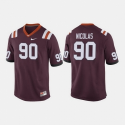 Men Virginia Tech Hokies Dadi Nicolas College Football Maroon Jersey