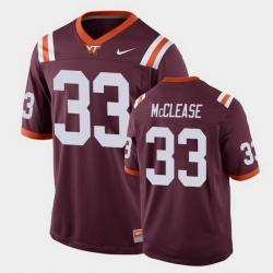 Men Virginia Tech Hokies Deshawn Mcclease Replica Maroon Football Game Jersey