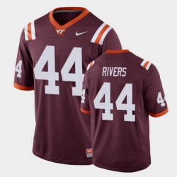 Men Virginia Tech Hokies Dylan Rivers Replica Maroon Football Game Jersey
