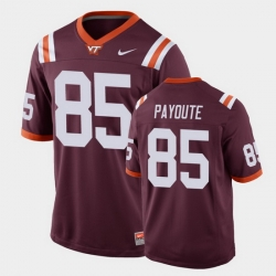 Men Virginia Tech Hokies Jaden Payoute Replica Maroon Football Game Jersey