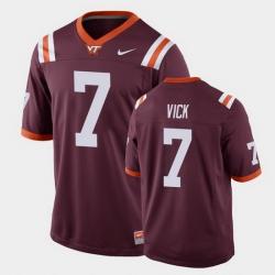 Men Virginia Tech Hokies Michael Vick Replica Maroon Football Game Jersey