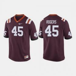 Men Virginia Tech Hokies Sam Rogers College Football Maroon Jersey