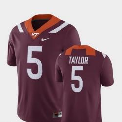 Men Virginia Tech Hokies Tyrod Taylor 5 Maroon Alumni Football Game Player Jersey