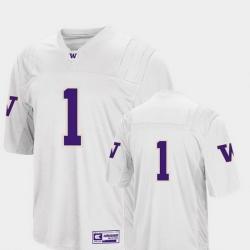 Men Washington Huskies 1 White College Football Colosseum Jersey