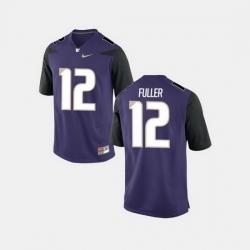 Men Washington Huskies Aaron Fuller College Football Purple Jersey