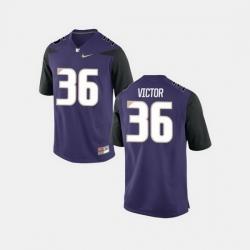 Men Washington Huskies Azeem Victor College Football Purple Jersey