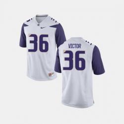 Men Washington Huskies Azeem Victor College Football White Jersey