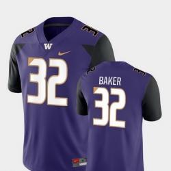 Men Washington Huskies Budda Baker 32 Purple Game College Football Jersey