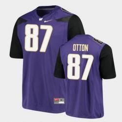 Men Washington Huskies Cade Otton Alumni Football Game Purple Jersey
