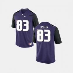 Men Washington Huskies Connor Griffin College Football Purple Jersey