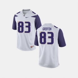 Men Washington Huskies Connor Griffin College Football White Jersey