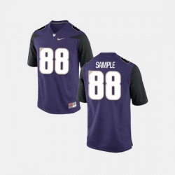 Men Washington Huskies Drew Sample College Football Purple Jersey