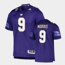 Men Washington Huskies Dylan Morris College Football Purple Game Jersey